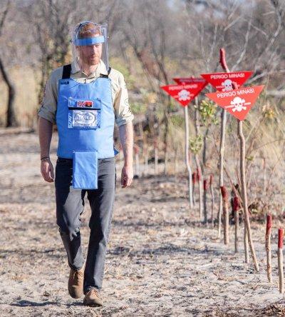 Prince Harry Walks Landmine Field in Angola