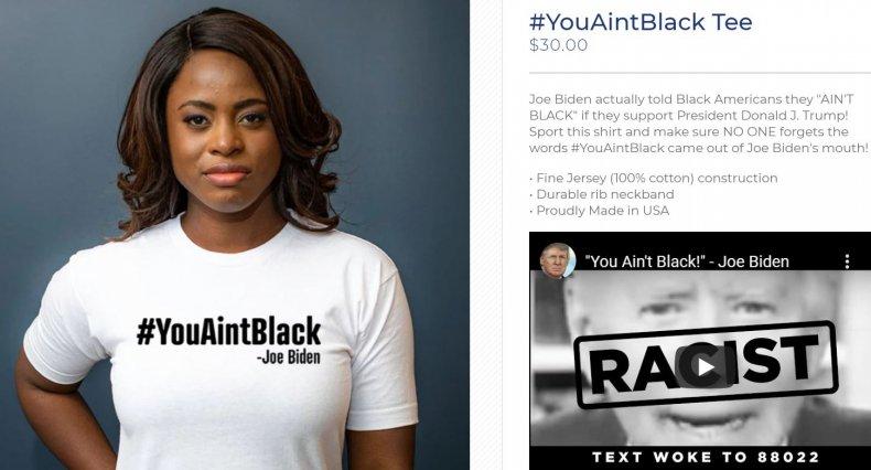 trump campaign store biden black