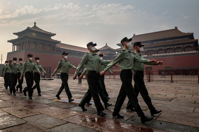 China's People's Liberation Army in Beijing