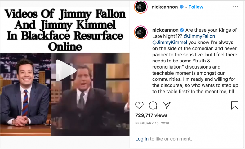 jimmy fallon blackface