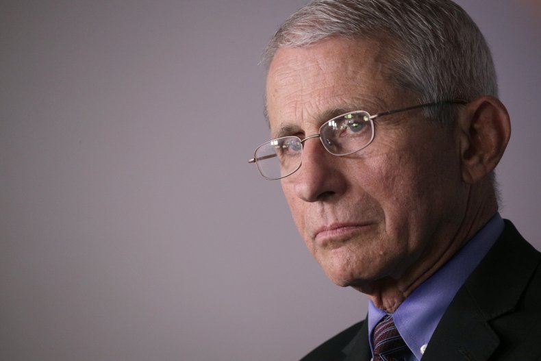 Dr. Anthony Fauci, White House, April 2020
