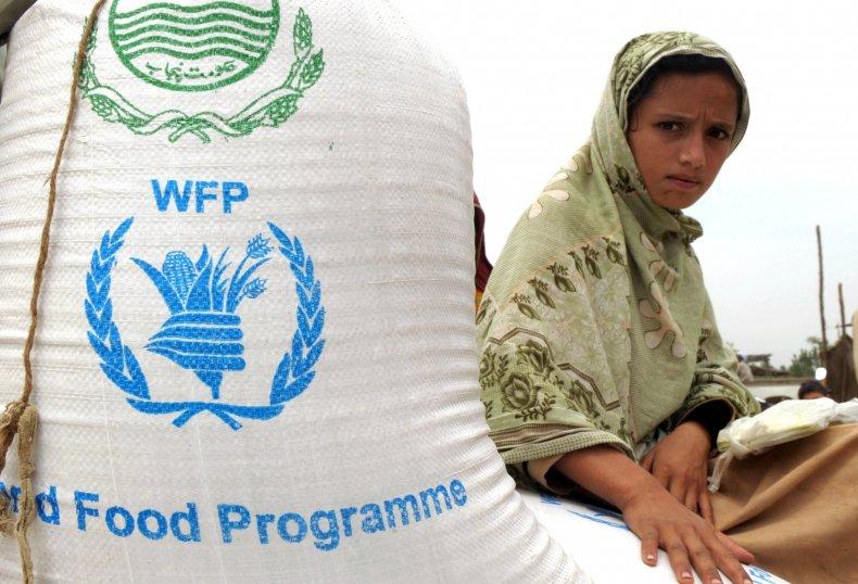 World Food Program with supplies