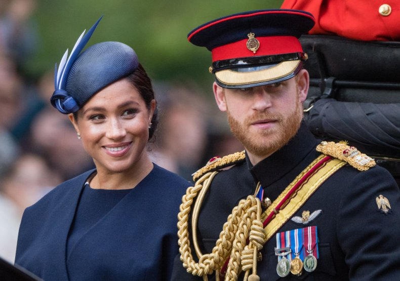 Meghan Markle and Prince Harry Trooping