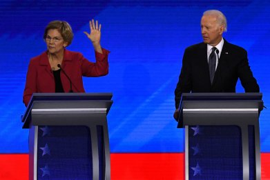 Joe Biden and Elizabeth Warren