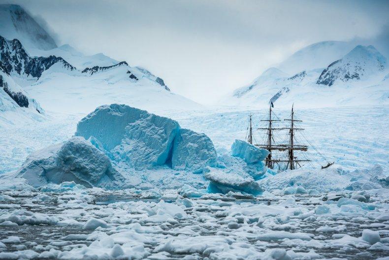 Tall ship Bark Europa sails to Antarctica