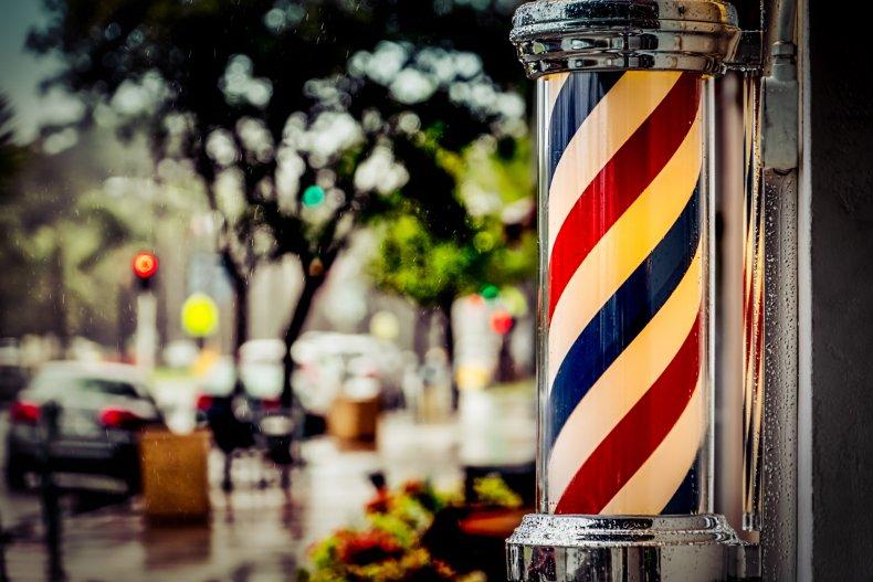 A barbershop pole