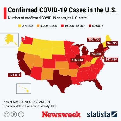 spread of COVID-19 cases across U.S.