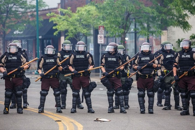 riot police George Floyd