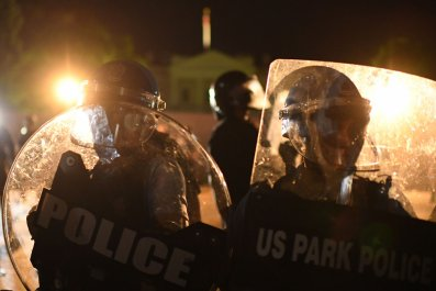 Police Officers Riot Shields Washington, D.C.