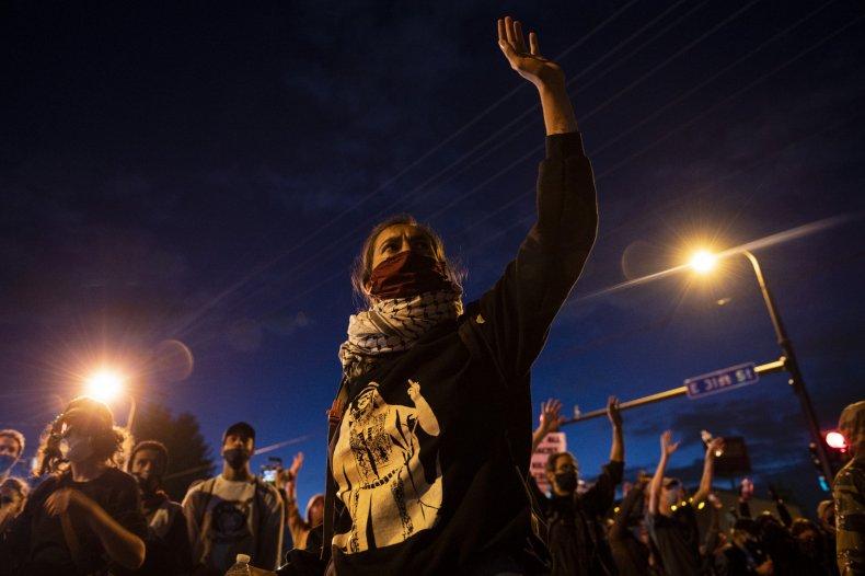 Protesters Outside Minneapolis Police Precinct