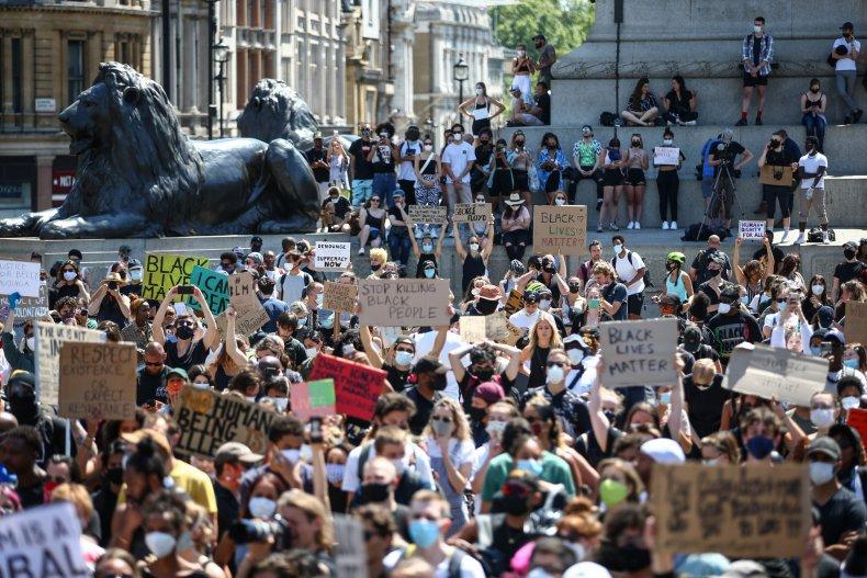 George Floyd protests in London