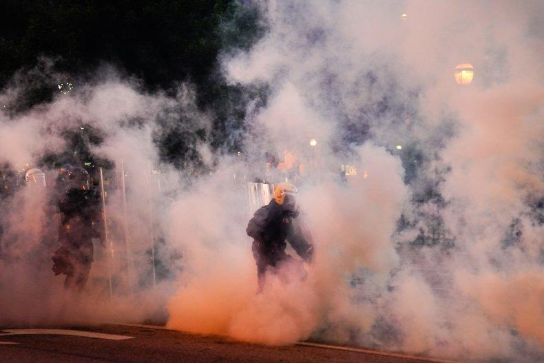 Atlanta, Georgia, tear gas, police, May 2020