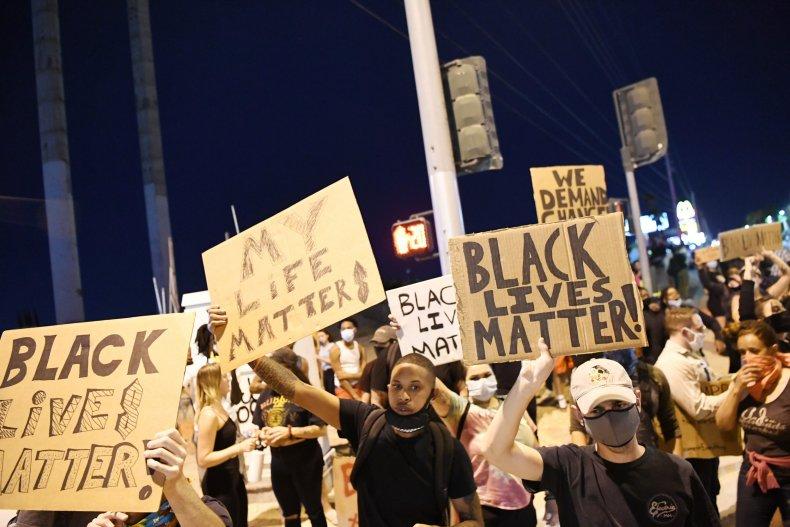 Protesters in Las Vegas