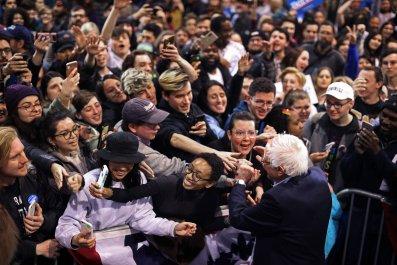 Bernie Sanders rally students