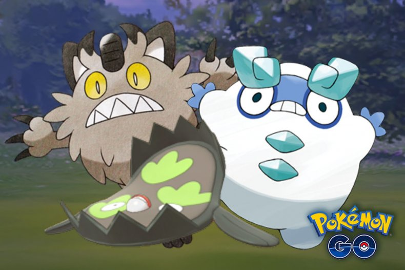 pokemon go galarian stunfisk meowth darumaka