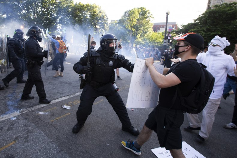 Democrats condemn Trump teargassing protesters photo-op