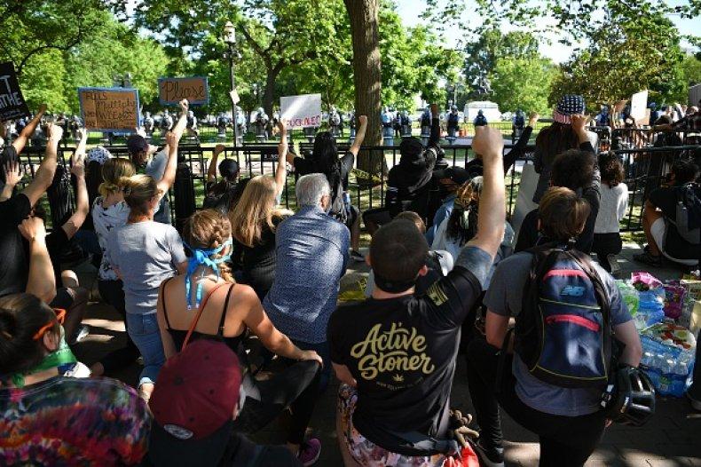 Lafayette Park protestors