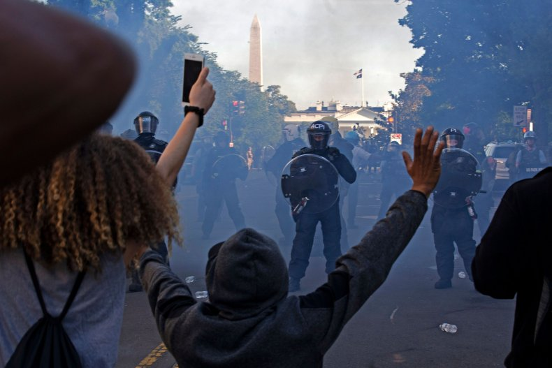 trump teargas protesters photo op white house