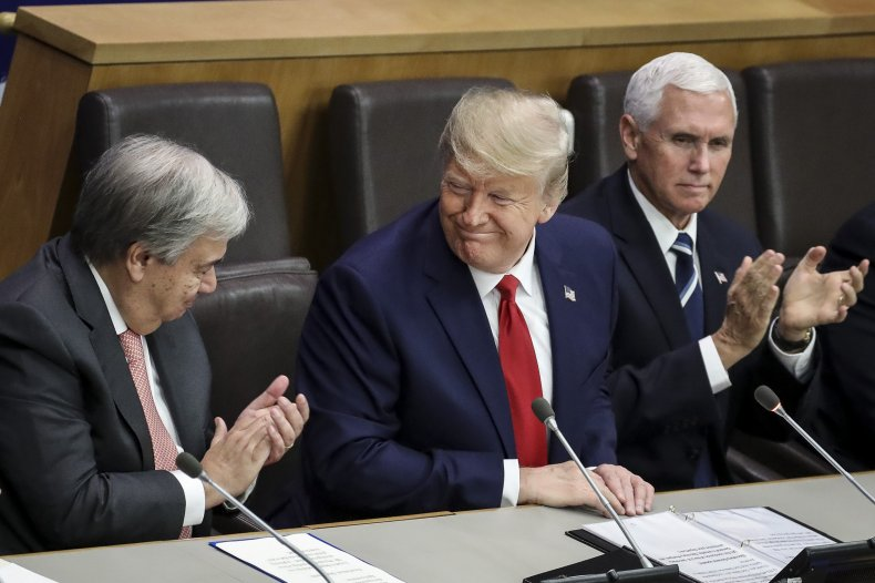 President Trump during a 2019 U.N. meeting