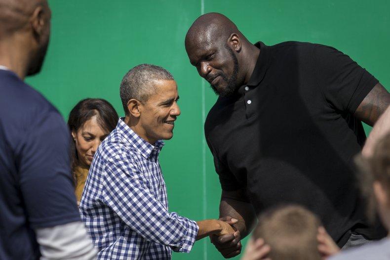 Barack Obama, Shaquille O'Neal