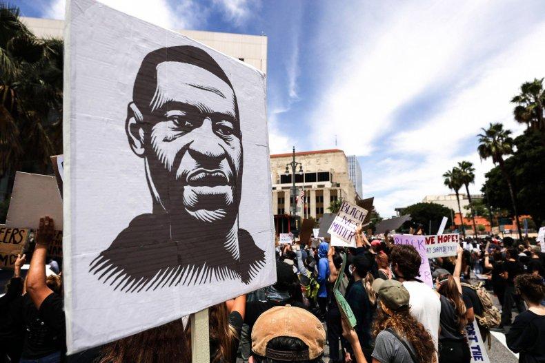 George Floyd protest Los Angeles, California