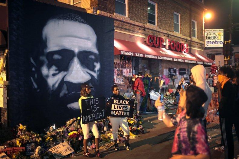 George Floyd memorial Minneapolis