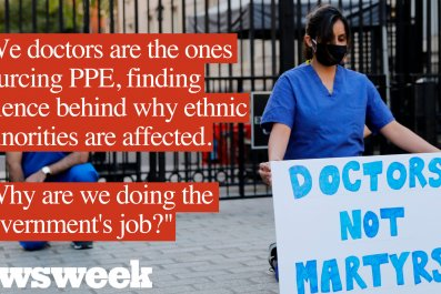 Doctors protest outside Downing Street