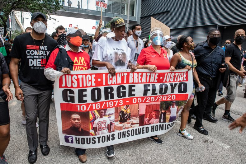 George Floyd protest in Houston