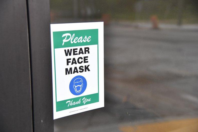 Mask Sign at Georgia Barbershop