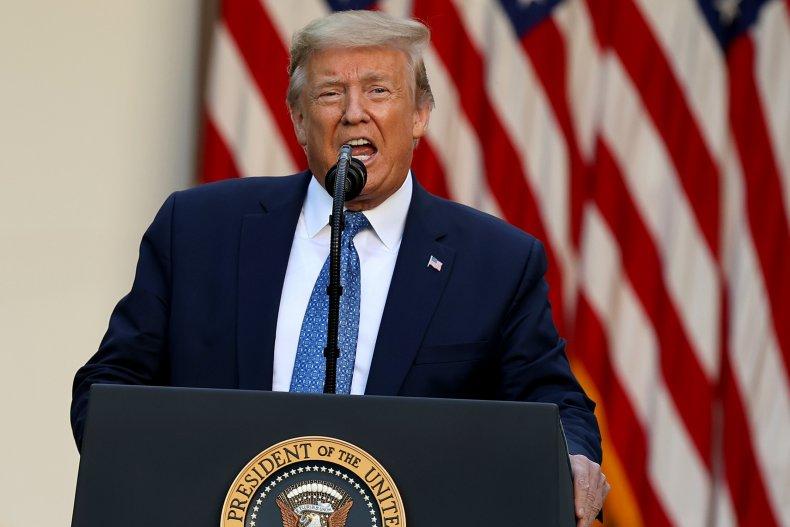 President Donald Trump in Rose Garden