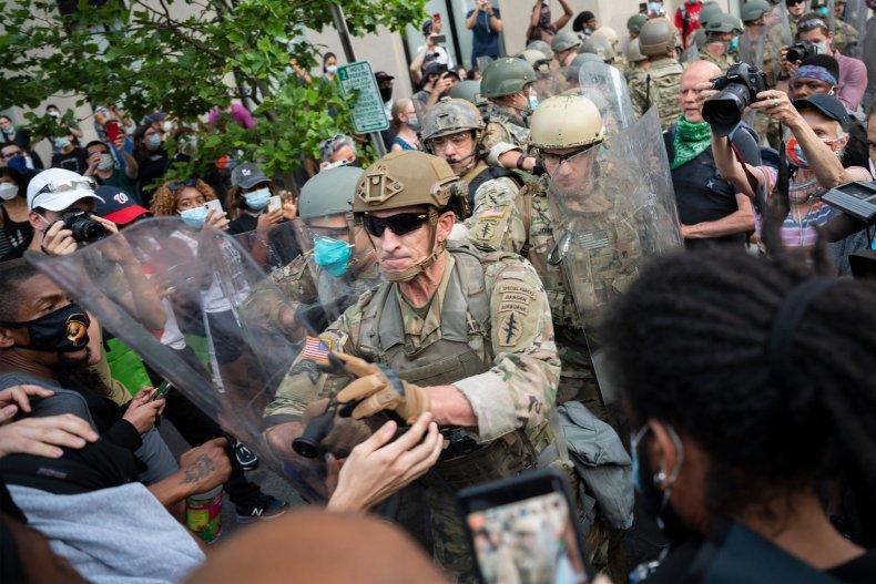 us, army, george, floyd, protests, washington, dc