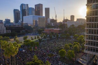 LA george floyd protest June 2020