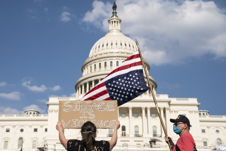 Protesters outside U.S. Capitol
