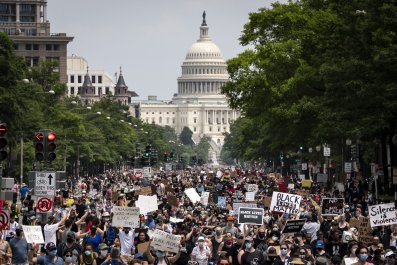 Protesters in Washington, D.C.