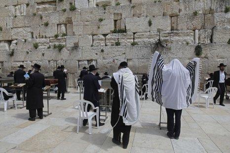 Jews praying at Western Wall
