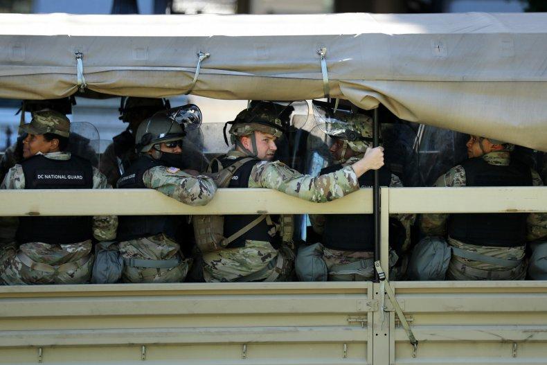National Guard Trump protest