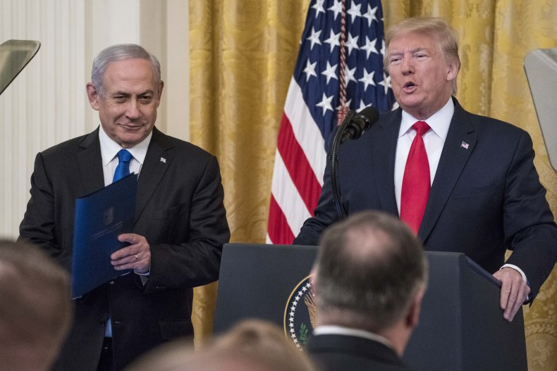 President Donald Trump and Israeli Prime Minister
