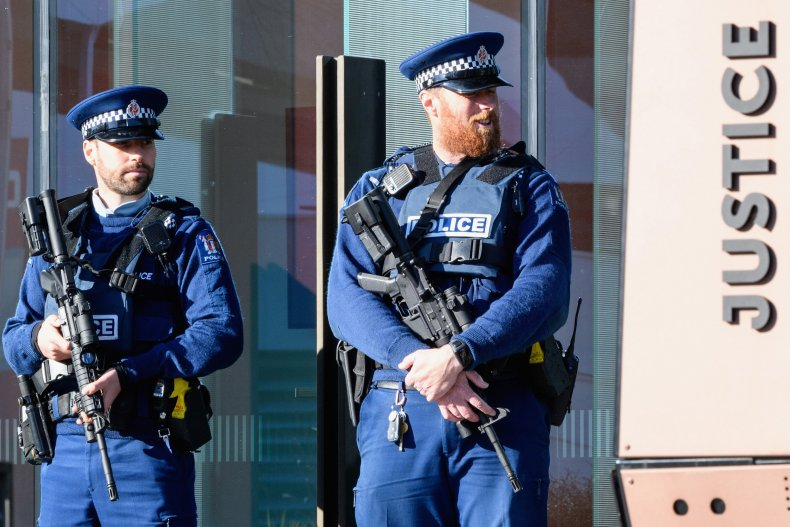 Armed NZ police officers