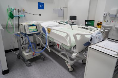 Hospital bed in UK