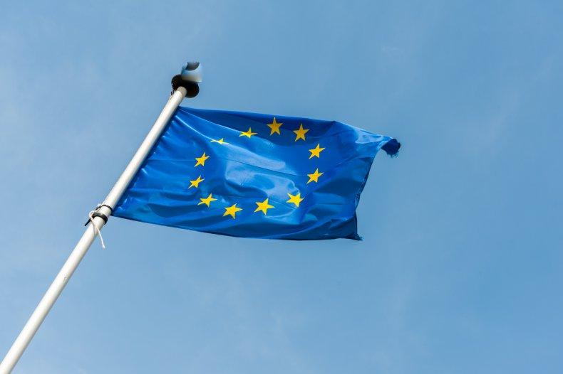 European Union flag in Brussels