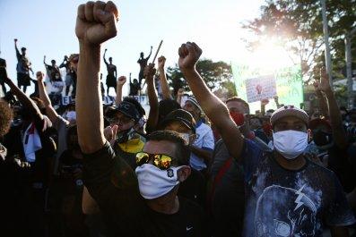 São Paulo, Brazil, protest, coronavirus, June 202