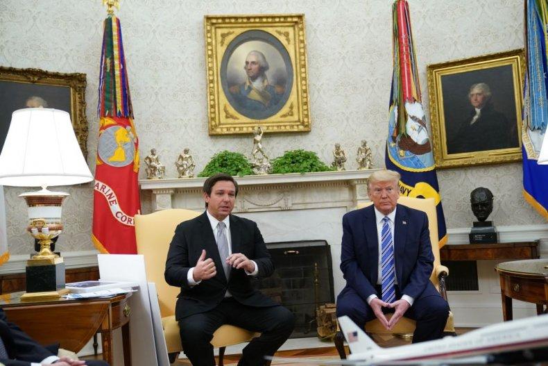 Ron DeSantis and Donald Trump