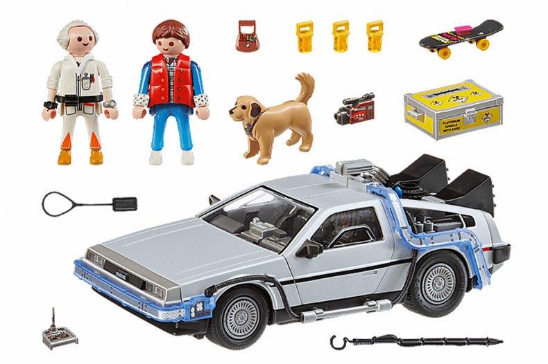 Back to the Future Playmobil DeLorean Set