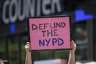 Anti-police protesters in New York City