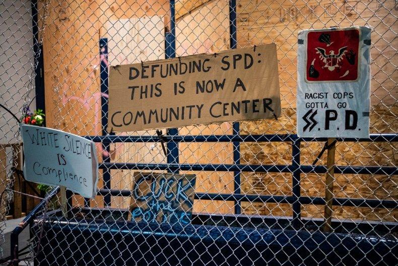east precinct seattle signs
