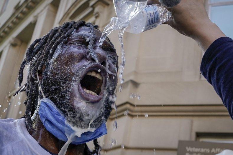 tear gas, george floyd protest, getty,