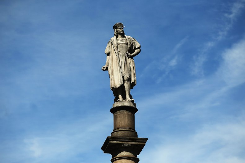 Christopher Columbus Statue in NYC