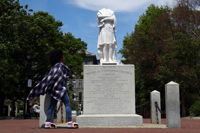 Columbus statue in Boston