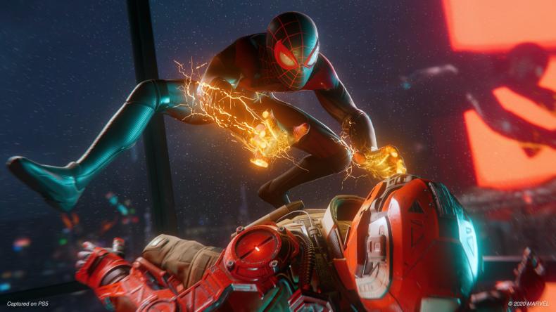 spiderman miles morales ps5 screenshot action