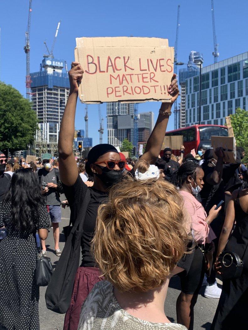 Black lives matter, protests, London, George Floyd
